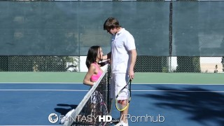 HD FantasyHD - Little Dillion Harper gets fucked on the tennis court fantasyhd raven big-tits billy-hart hardcore brunette dillion-harper hd facial