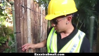 ExxxtraSmall - Tree Hugging Teen Fucks Lumberjack  big-cock teen exxxtrasmall outdoors hd public earth day skinny teamskeet hardcore brunette petite latina tight shaved small-tits park