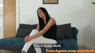 Preview 1 of FakeAgent Horny babe with amazing body fucked hard in office