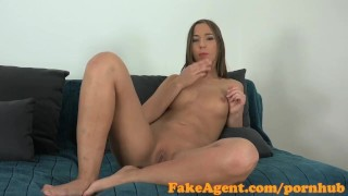 Preview 5 of FakeAgent Cute amateur gets ass sprayed with spunk in casting
