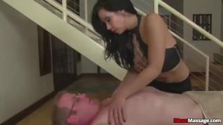 Dominant Asian Girl Cock Treatment  handjob interracial slave femdom meanmassages asian
