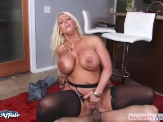 Busty blonde Alura Jenson fuck her neighbor