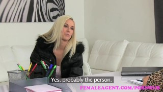 FemaleAgent. Beautiful blonde fucked hard with a strap on  strap on hd audition sexy amateur blonde small tits femaleagent casting hardcore office czech shaved tight interview girl on girl agent