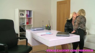FemaleAgent. Beautiful blonde fucked hard with a strap on  strap on agent hd audition sexy amateur blonde small tits femaleagent casting hardcore office czech shaved tight interview girl on girl