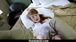 CFNMTeens - Ginger Teen Gets Fucked At Work