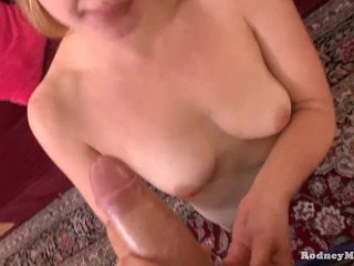 April Love Ticket Scalper Slut Sucking Cock Cum Swallow