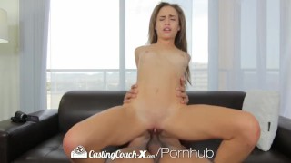 HD CastingCouch-X - Short cutie Natasha White shoots her first porn