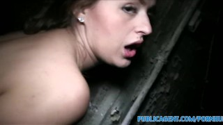 PublicAgent Brunette with big boobs fucked in a cellar  sex for money big tits outdoors outside amateur cumshot public pov big dick real reality huge cock big boobs natural tits camcorder sex for cash publicagent sex with stranger