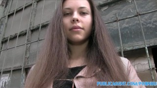 PublicAgent Brunette babe with stunning figure fucks for cash  doggy style sex for cash sex for money ukrainian outdoors outside amateur cumshot public pov skinny real brunette reality camcorder publicagent sex with stranger