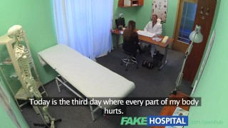 FakeHospital Beautiful brunettes wet pussy gets doctors cock  lingerie pussy-eating babe point-of-view doggy-style hardcore young brunette reality european hospital fakehospital doctor