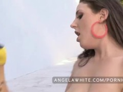 Bit Natural Tits Angela White and Asa Akira Hot Lesbian Sex