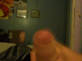 HOT YOUNG MALE MASTURBATES BEDROOM QUICKIE