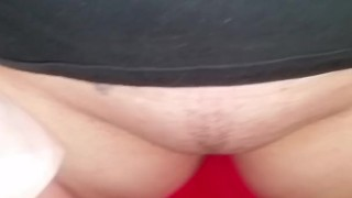 Preview 6 of Sammie Louisburg big cum shot in panties before she goes out