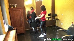 Mofos - Hairdresser sucks cock for cash