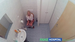 FakeHospital Horny busty blonde receives a creampie from the doctor  babe creampie sexy amateur blowjob blonde doctor big-boobs pov hardcore reality clinic uniform orgasm hospital fakehospital