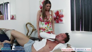 Preview 1 of Hottie Brooklyn Chase gets big tits cummed at wedding