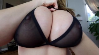 Kianna Dior - Sheer Bra Titfuck tittyfuck foreplay asian canadian tease big-tits big-boobs tit-fuck big-dick brunette titty-fuck titty fuck pov pov tittyfuck point-of-view