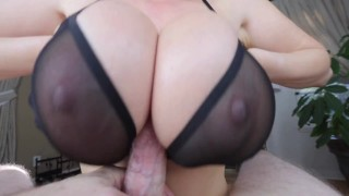 Kianna Dior - Sheer Bra Titfuck tittyfuck tit fuck point of view foreplay asian canadian big tits big boobs tease titty fuck brunette big dick titty fuck pov pov tittyfuck