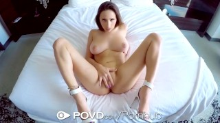 POVD - Guy uses helicopter tongue to tease Ashley Adams pussy