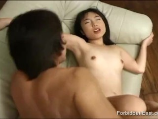 Cute Oriental shows off her cock sucking skills before getting fucked