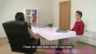 FemaleAgent. Sexy agent receives a huge creampie from horny stud  raven creampie hd audition sexy amateur blowjob femaleagent casting missionary hardcore couch office reality czech orgasm interview