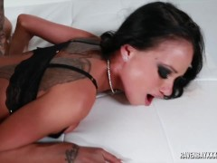 Raven Bay is ass slapped and fucked