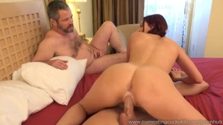 Addison Ryder Has Husband Watch As She Gets Pounded  cuckold pussy-licking redhead wife husband blowjob cum-eating cumshot cock sharing bisexual cumeatingcuckolds bull threesome pussy cream