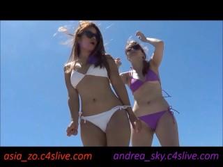 Dancing on a beach- andrea sky