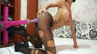 Anisyia livejasmin stockings, high heels geting fucked by machine part1  high heels amateur model kink webcam brunette doggy butt petite beautiful stockings big boobs penetration romania sexmachine fuckmachine