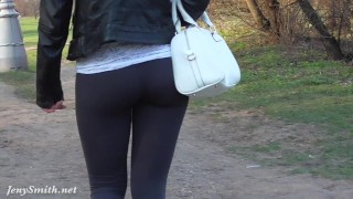 Preview 3 of Jeny Smith see through yoga pants fetish