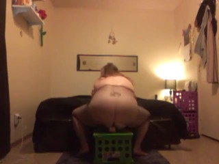 horny bbw playing with her toy