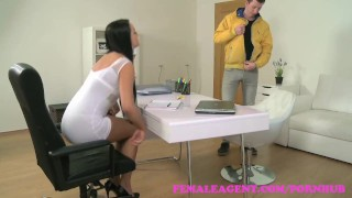 FemaleAgent. Beautiful agents perfect pussy gets creampied by eager stud  agent raven creampie hd audition sexy amateur femaleagent casting hardcore couch office reality czech shaved tight orgasm interview