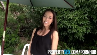 PropertySex - Sexy Asian real estate agent tricked into making sex video  sloppy blowjob point of view real estate agent homemade outdoor funny asian blowjob propertysex hardcore real estate reality facial pussy licking realtor selfshot