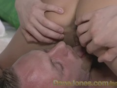 DaneJones Real life couple make love with passion and internal cum shot
