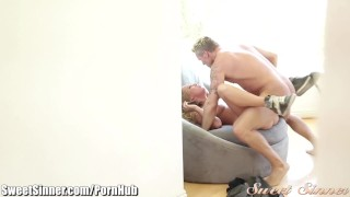 SweetSinner Carter Cruise Moans for Step-Daddy  step dad step daughter older younger hairy blowjob blonde cumshot small tits stepdad petite cum eating natural tits sweetsinner young and old