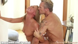 Nubile Films - Sexy coed gets a mouthful of cum