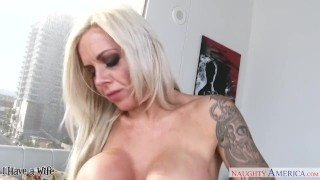 Busty wife Nina Elle riding a big dong  doggy style big tits mom blonde blowjob pornstar big dick busty stocking hardcore raw mother naughty america ihaveawife fake tits naughtyamerica shaved pussy