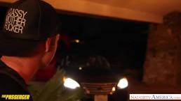 Girl in glasses Casey Calvert fuck a passenger