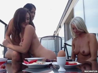 MAGMA FILM Stunning Lesbians babes on the terrace