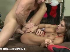 Pornstars Peta Jensen and Johnny Sins have some cam fun Part3