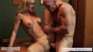 Preview 6 of Stockinged office babe Brandi Love gets nailed