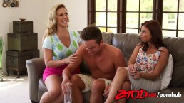 Two Cougars One Lucky Guy Britney Amber and Alyssa Lynn go off