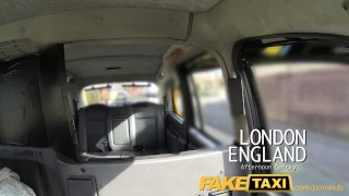 FakeTaxi Saucy brunette talks driver into sex faketaxi deep-throat point-of-view taxi amateur blowjob british gagging cock-sucking spycam public car backseat tattoos reality camera
