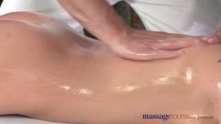 Massage Rooms Flexible blonde enjoys hard cock in her perfect pussy  ass tits oral-sex blonde blowjob massage female-friendly sensual pussy fingering orgasm big-dick massagerooms female orgasms