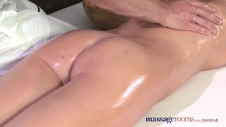 Massage Rooms Flexible blonde enjoys hard cock in her perfect pussy  ass tits oral-sex blonde blowjob massage female-friendly sensual pussy massagerooms fingering orgasm big-dick female orgasms