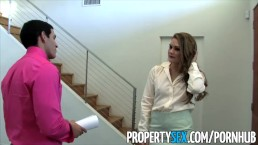 PropertySex - Naughty real estate agent Abby Cross fucks her client