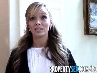 PropertySex - Petite agent immobilier sexy se fait un faux client pervers
