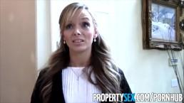 PropertySex - Sexy petite realtor fucks pervert pretending to buy house