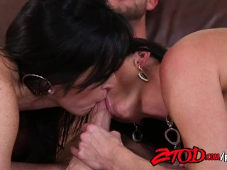 Cougars India Summer and Dixie Comet destroy this young pup