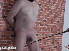 Petite Mistress gives pathetic submissive a cock kicking and ball busting
